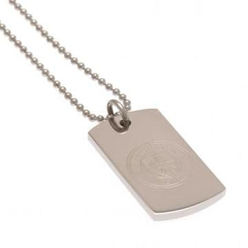 Manchester City Engraved Dog Tag & Chain