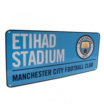 Manchester City Etihad Stadium Street Sign BL