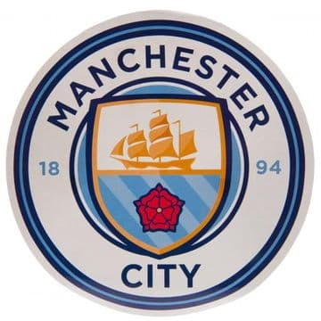 Manchester City Large Crest Circular Sticker