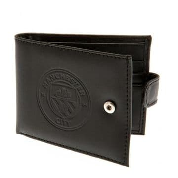 Manchester City Leather Wallet with Anti-Fraud