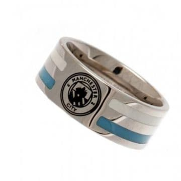 Manchester City Ring with Colour Stripe - Small