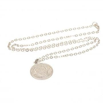 Manchester City Silver Plated Pendant & Chain