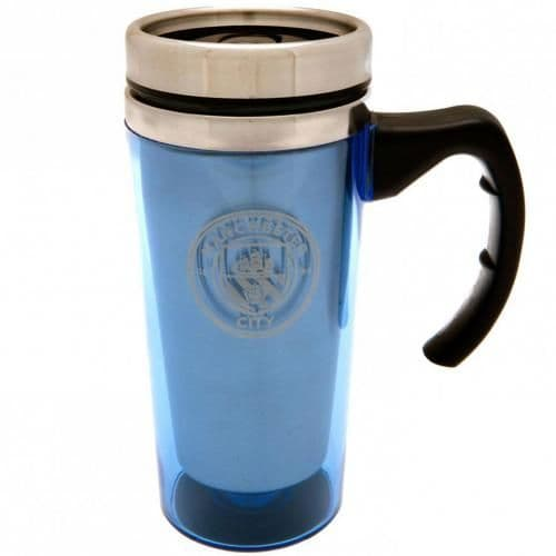 Manchester City Travel Mug with Handle | MCFC Merchandise [ Football Gifts Shop ]