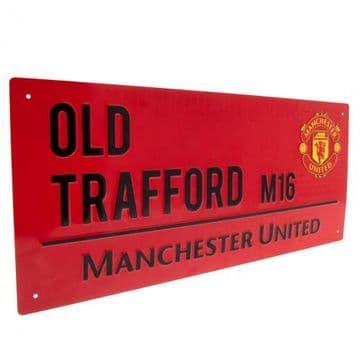 Manchester United Old Trafford Street Sign RD