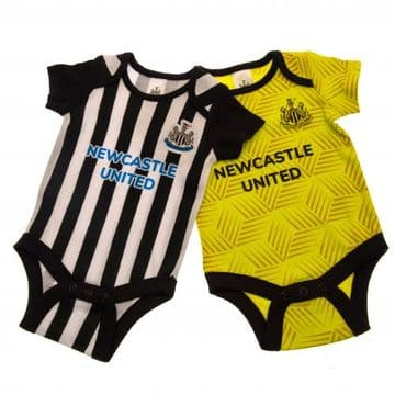 Newcastle United Babygrow (2 Pack) 3-6 Months