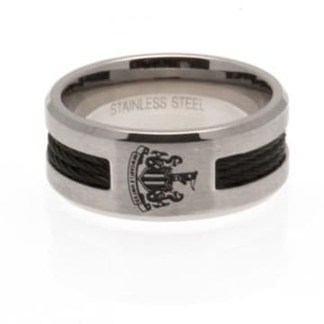 Newcastle United Ring with Black Inlay - Small