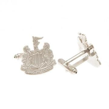 Newcastle United Silver Plated Formed Cufflinks