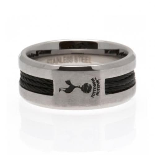 Tottenham Hotspur Black Inlay Ring - Small | Spurs Gifts