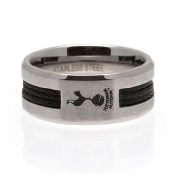 Tottenham Hotspur Black Inlay Ring - Small