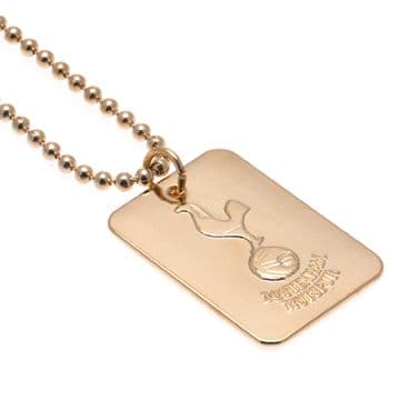 Tottenham Hotspur Gold Plated Dog Tag & Chain