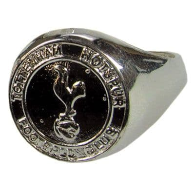 Tottenham Hotspur Silver Plated Crest Ring (M) | Football Gifts