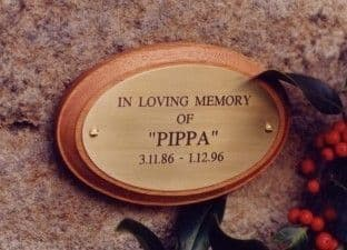 Engraved Oval Wall Plaque &  Wood Plinth