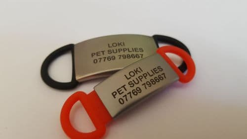 Engraved Shoe ID tags - Medic Alert Information - ICE information -