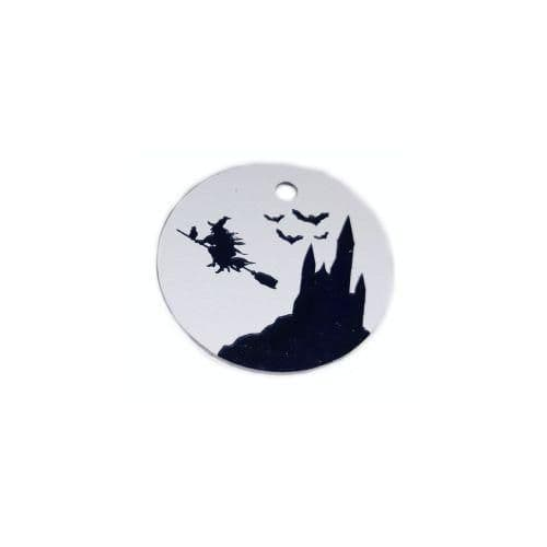 Halloween Pet ID tag Engraved - WITCH