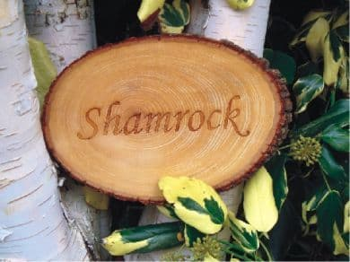 House or Garden Sign - Engraved Wood slice