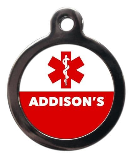 Medical  Alert tag - ADDISONS