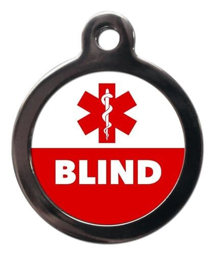 Medical  Alert tag - BLIND