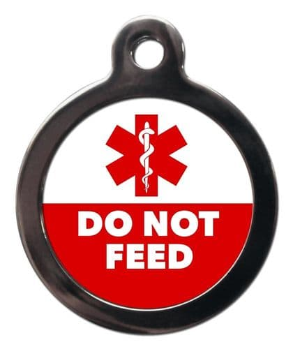 Medical  Alert tag - DO NOT FEED
