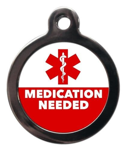 Medical  Alert tag - MEDICATION NEEDED