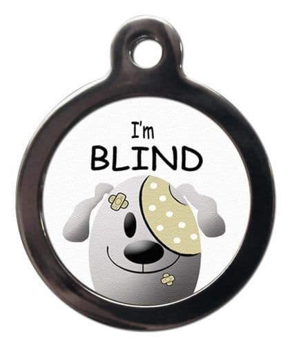 Medical  Picture Tags for Dogs - I'M BLIND