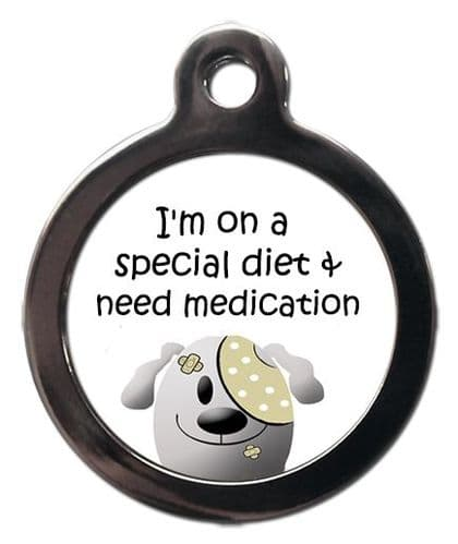 Medical  Picture Tags for Dogs - SPECIAL DIET & MEDICATION