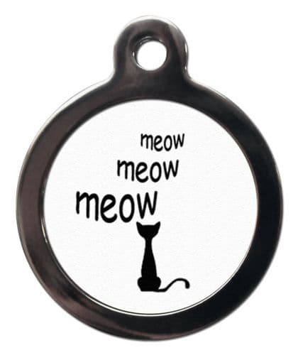 Meow Meow Meow Cat ID tag