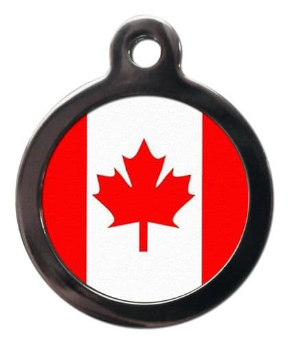 Pet ID tag Canadian Flag