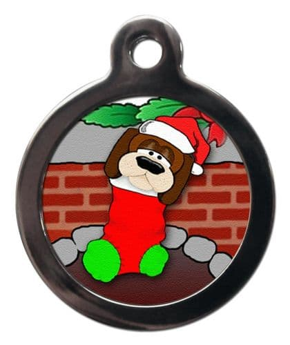 Pet ID Tag  Christmas DOG STOCKING