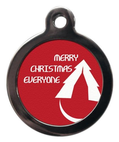 Pet ID Tag  Christmas MERRY CHRISTMAS EVERYONE