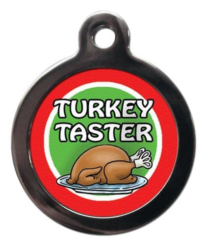Pet ID Tag  Christmas TURKEY TASTER