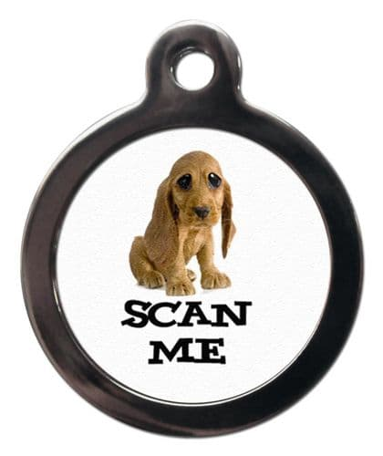 Pet ID tag  design SCAN ME Cocker Spaniel