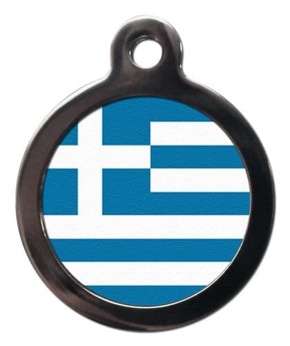 Pet ID tag Flag of GREECE