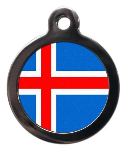 Pet ID tag Flag of ICELAND