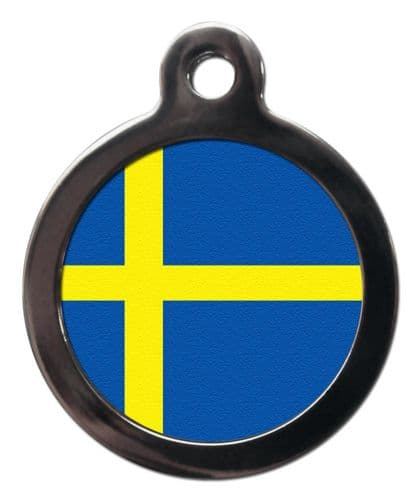 Pet ID tag Flag of Sweden