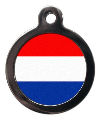 Pet ID tag Flag of THE NETHERLANDS