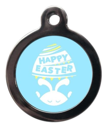 Pet ID Tag  HAPPY EASTER BLUE