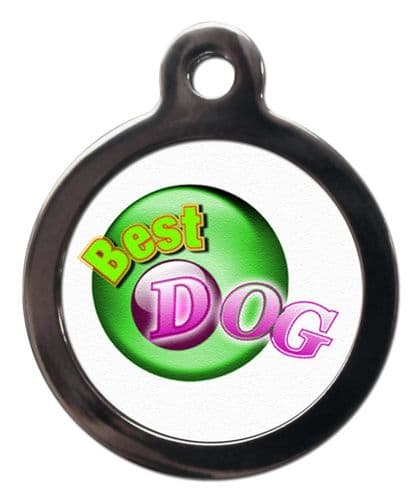 Pet ID Tag Lucky  Best Dog