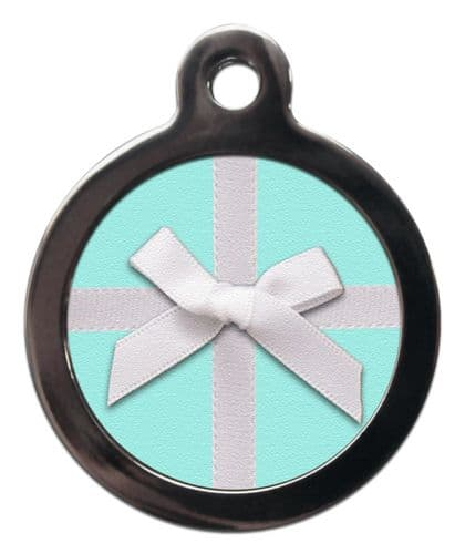 Pet ID Tag Lucky Gift bow