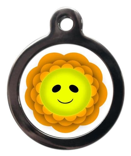 Pet ID Tag  SMILEY FLOWER