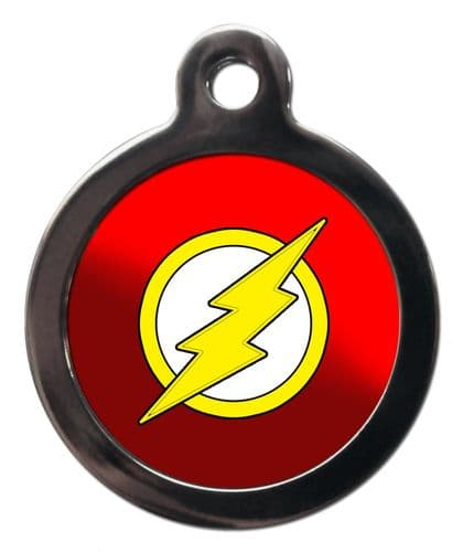 Pet ID Tag THE FLASH  Personalised tag