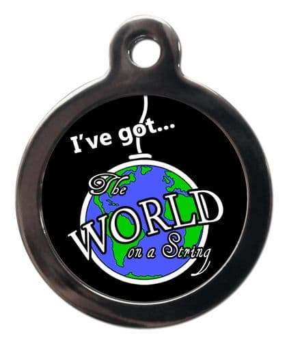 Pet ID Tag WORLD ON A STRING