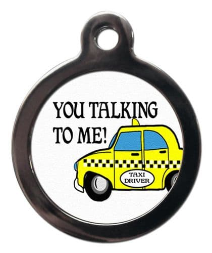 Pet ID Tag Yellow cab You talking to me?
