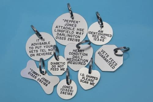 Silver Colour tags