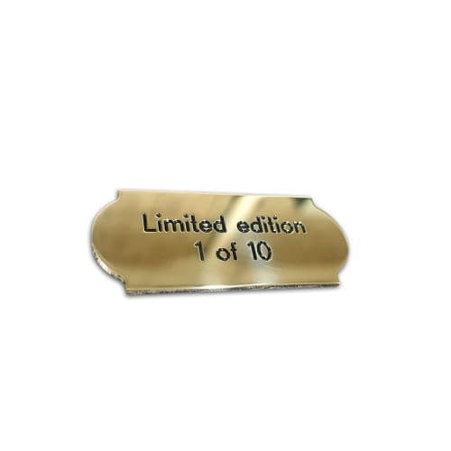 Small curved name plates BRASS engraved