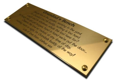 """Solid Brass Nameplates 6"""" x 2"""""""