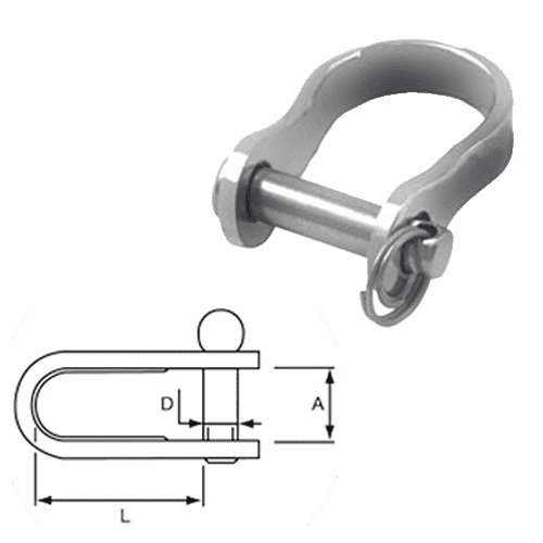 Allen Pressed Clevis Shackle Rigging Link (AL-4528) Clevis Pin