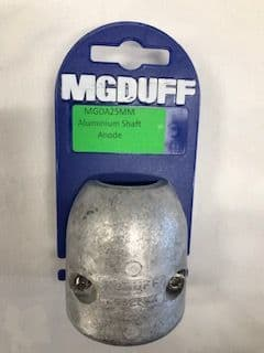 Aluminium 25mm  MG Duff Shaft Anode MGDA25mm  Salt and Brackish Water