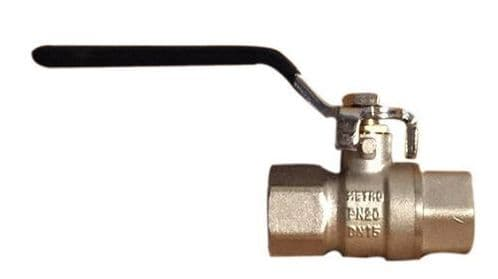 Ball Valve Nickel plated brass (For Freshwater use)