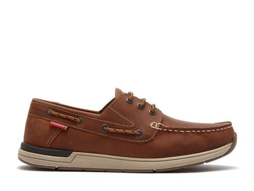 Chatham Hastings Tan  Classic  Premium Lace up Boat shoe