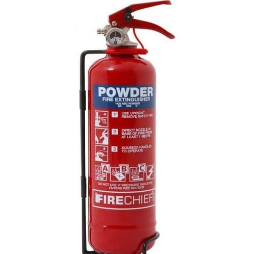Fire Extinguisher Powder 1kg ABC 55B 8A
